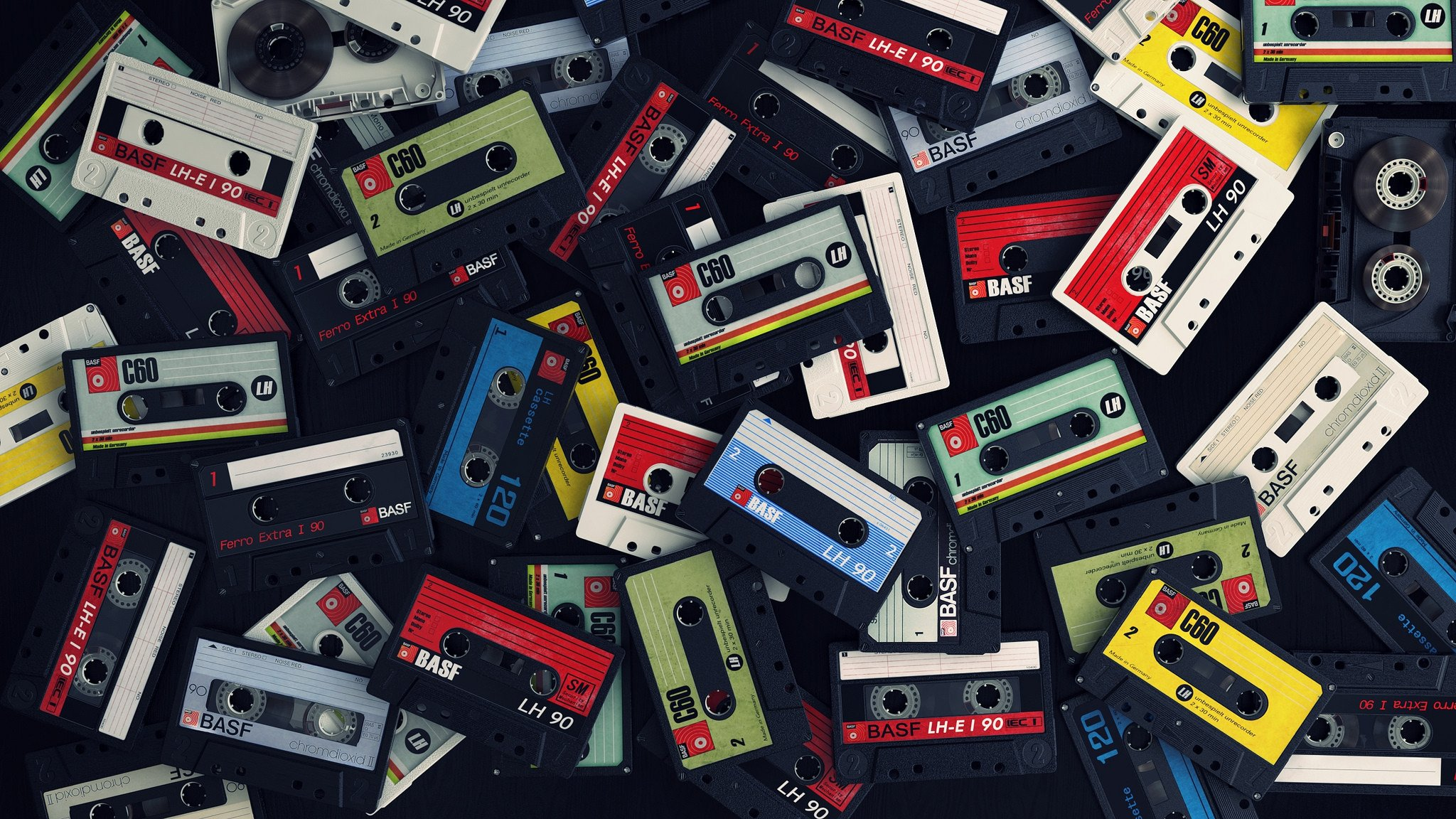 cassette music close up background