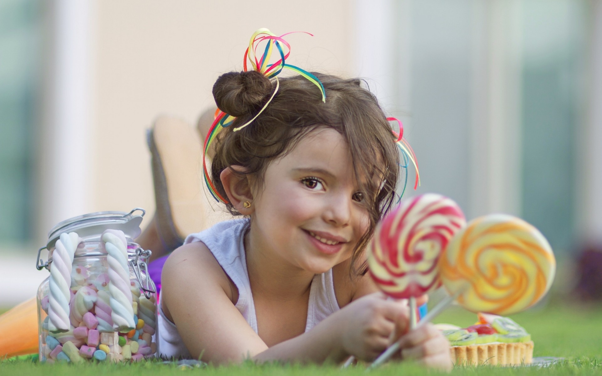 happiness girl of the bank summer sweets child