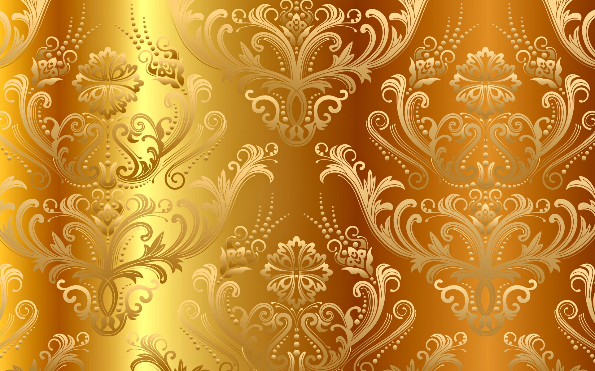 golden pattern vintage gradient vector background gold