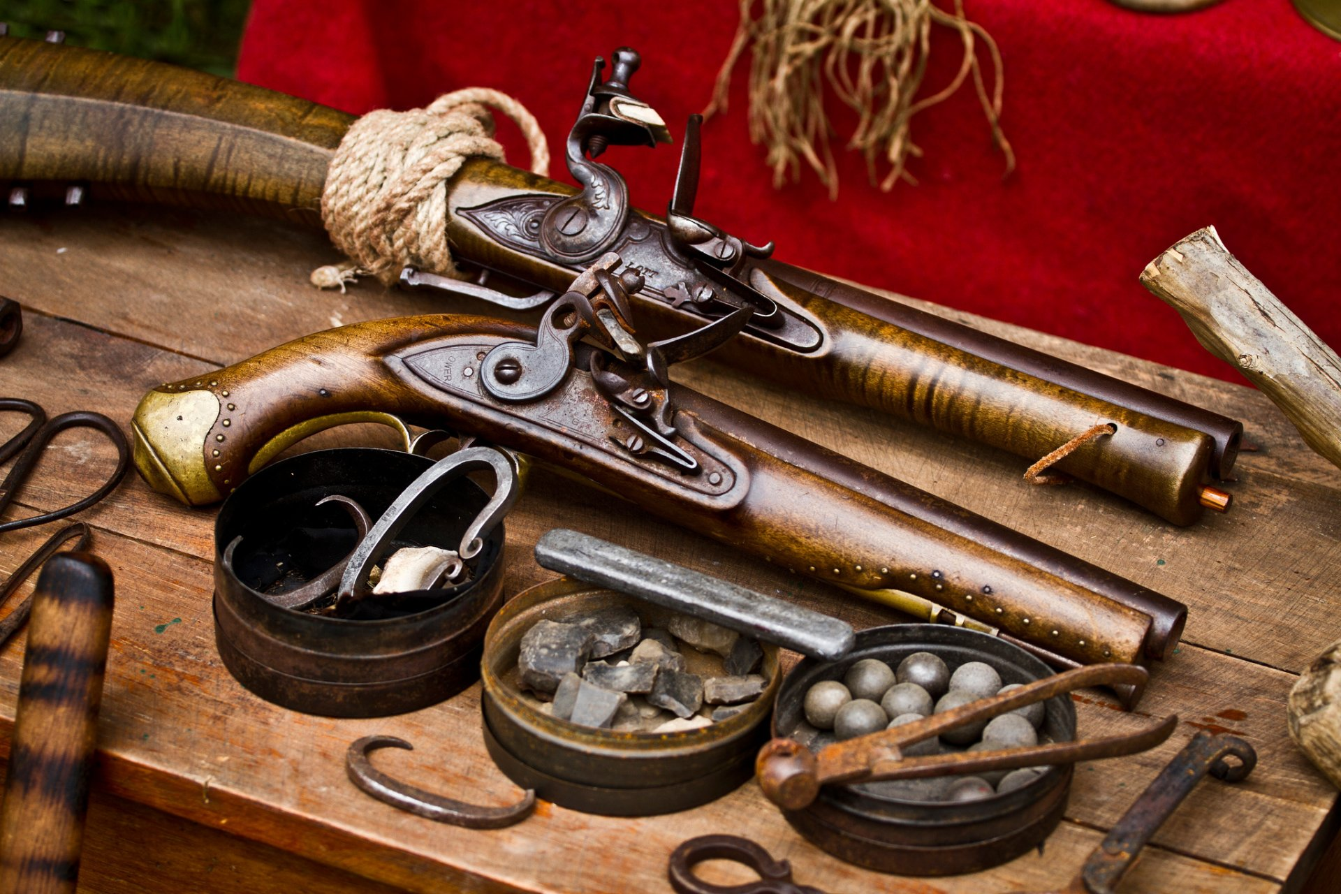vintage guns retro weapon
